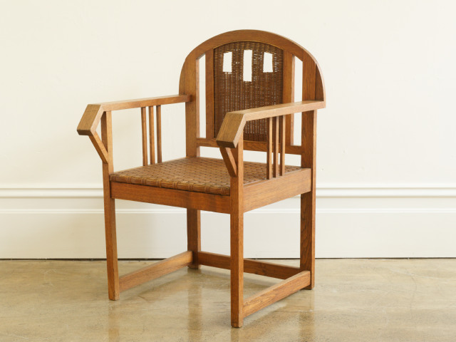 Belgian Oak and Cane ArmchairSeatingFurniture