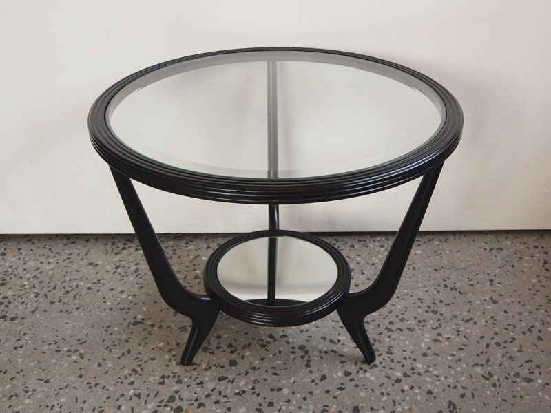Ebonised two tier side table Tables Furniture
