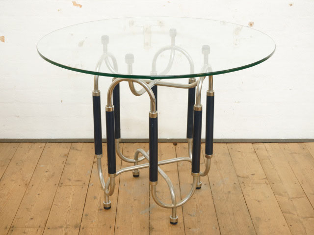 Gabetti Glass and Chrome TableTablesFurniture