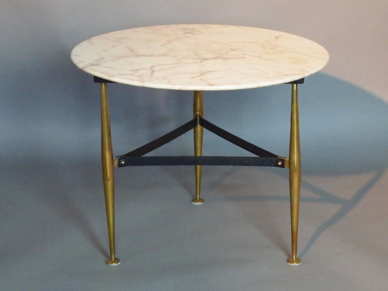 Marble and brass side table Tables Furniture
