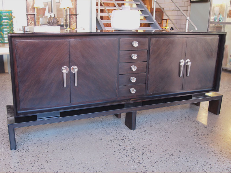 Modernist oak sideboard  Art Deco + Modernism