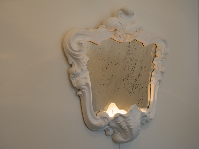 French White Plaster Mirror Mirrors Objects